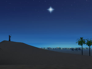 Star Over Bethlehem, free clip art by Midolluin