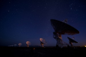 Very Large Array With Stars. hoto credit: Malcolm Park